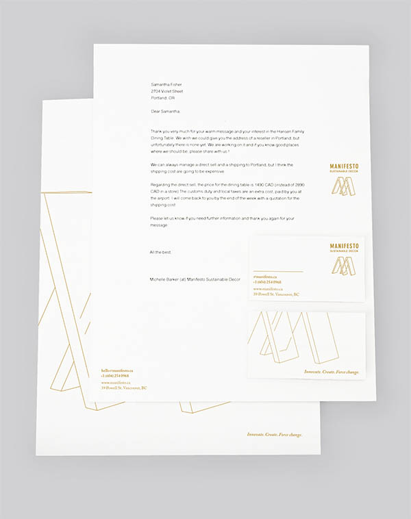 Manifesto Stationery Package